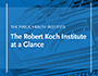 The Public Health Institute - The Robert Koch Institute at a Glance (flyer, 2018)