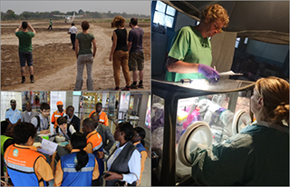 RKI staff working for the European Medical Corps in Angola und DR Congo during the Yellow Fever outbreak in 2016 (Source: RKI)