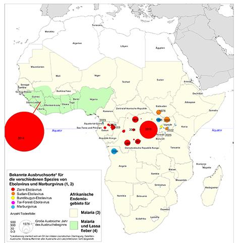 RKI - Infektionskrankheiten A-Z - Karte der bisherigen
