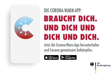 Corona-Warn-App auf einem Smartphone. Quelle: Bundesregierung