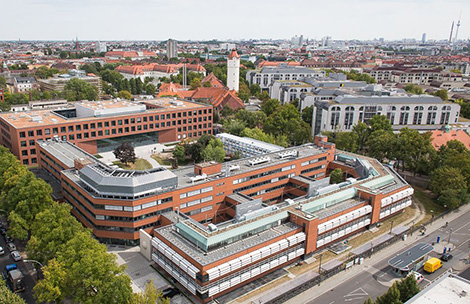 The new building of the Robert Koch Institute, area Seestraße. Source: © Manuel Frauendorf, skyfilmberlin/RKI