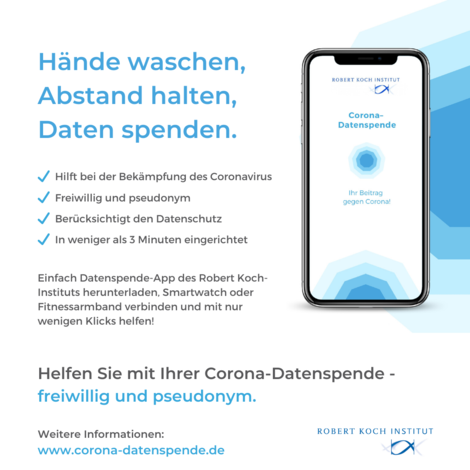 Corona-Datenspende-App des Robert Koch-Instituts