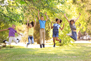 Children playing together outdoors on sunny day. © New Africa / fotolia
